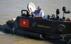 Tàu ngầm Trường Sa 01 chạy thử nghiệm dịp bão Rammasun đổ bộ