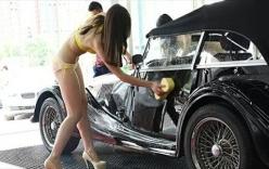 Dịch vụ hot girl chân dài mặc bikini rửa