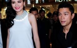 Diễm Hương được bạn trai đưa đón khi mang bầu