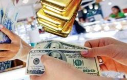 Vàng giảm, USD