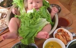 Gia đình Trung Quốc đặt con vào giữa bát sadad
