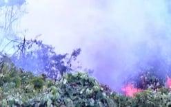 Cháy lớn cùng nhiều tiếng nổ như bom ở rừng Nam Hải Vân