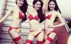 Ngọc Trinh mặc bikini làm tiếp viên hàng không