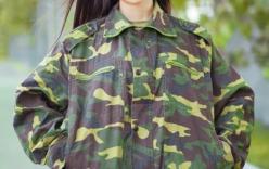 Nữ sinh trong trang phục quân sự xinh đẹp gây sốt cư dân mạng