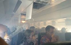 147 hành khách khóc thảm thiết vì máy bay bốc khói giữa biển