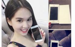 Ngọc Trinh hào hứng khoe iPhone 6 mới tậu trên trang cá nhân