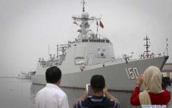 Hình ảnh tàu khu trục Trung Quốc lần đầu tiến vào Vịnh Ba Tư