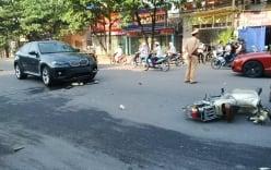 Xế hộp BMW tông xe máy, nạn nhân văng xa gần chục mét