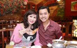 Vũ Hoàng Việt không ngần ngại tình tứ bên người tình U60 giữa nhà hàng