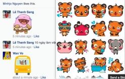 Facebook cho phép người dùng comment bằng Stickers