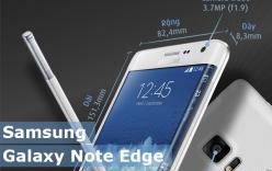 Miêu tả chi tiết về Samsung Galaxy Note Edge qua inforgraphic