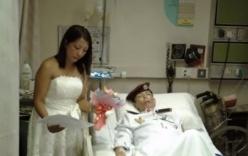 Sĩ quan cảnh sát mắc ung thư giai đoạn cuối cưới vợ trên giường bệnh