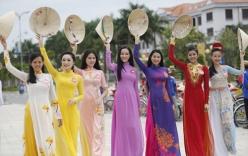 Ngắm dàn thí sinh Hoa hậu phía Nam khoe dáng với tà áo dài