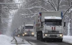 """Quân đội Ukraine: Đoàn xe """"khủng"""" từ Nga tiến vào Ukraine"""