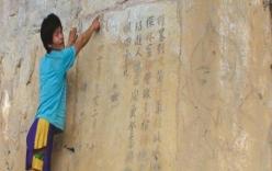 Bức thư bí ẩn trên vách núi và cây cầu đá tiên ở sông Kỳ Cùng