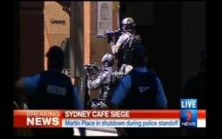 Hình ảnh trực tiếp bắt cóc con tin giữa trung tâm Sydney