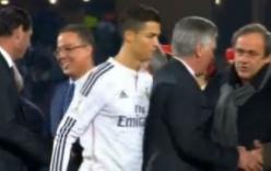 Hận thù cũ, Ronaldo tránh bắt tay Chủ tịch UEFA, Platini