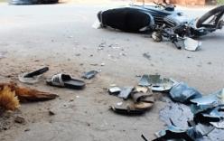 Cuộn thép rơi xuống đường, 2 người bị thương