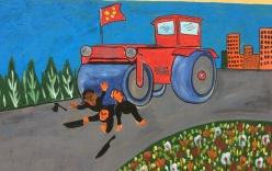 Cận cảnh tranh cổ động Trung Quốc tại Tân Cương