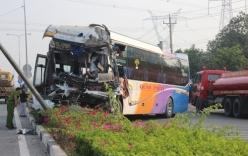 Hơn 20 người kêu cứu trên xe khách gặp nạn ở Bình Dương