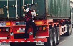 Tối mắt với nam sinh đùa giỡn với thần chết, đu xe tải