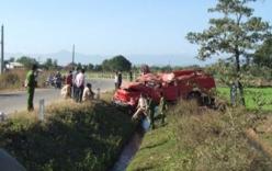 Xe chữa cháy gặp nạn, 8 chiến sỹ cảnh sát bị thương