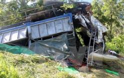 Xe tải lao xuống vực sâu, 4 người tử vong