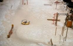 Bất ngờ xuất hiện tuyết màu cam ở Nga