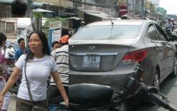 Nữ tài xế phóng ô tô bạt mạng trên phố trốn công an phường