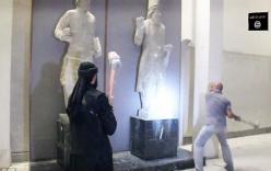 Hàng loạt báu vật 3.000 năm tuổi của Iraq bị IS dùng một búa đập tan