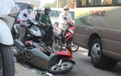 Xe bồn mất phanh cuốn xe máy vào gầm, một phụ nữ tử vong