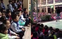 Video: Hàng trăm học sinh tiểu học hát