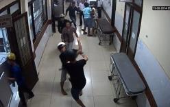 Côn đồ truy sát người trong phòng khám bằng dao phay, xà beng