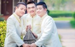 Ba chàng trai đồng tính kết hôn sau 5 năm sống chung