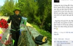 Chàng trai đạp xe từ Nam Định đến Gia Lai tặng hoa cho bạn gái