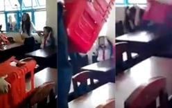 Nữ sinh bị đánh hội đồng: Xử lý nghiêm nam sinh cầm chồng ghế đánh bạn