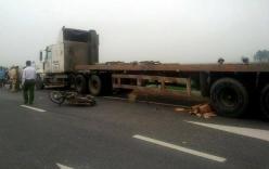 Bị xe container cuốn vào gầm, 1 người tử vong