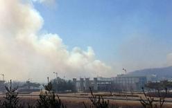 Cháy lớn tại Triều Tiên lan sang cả Hàn Quốc
