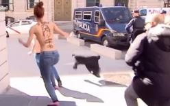 Clip: Cảnh người phụ nữ cởi trần gây náo loạn