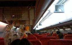 Video: Máy bay Thái Lan hỏng động cơ, hành khách trào máu tai