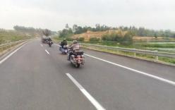 Xôn xao clip mô tô đi vào đường cấm trên cao tốc Hà Nội- Lào Cai