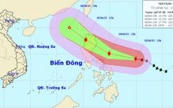 Bão Maysak: Công điện khẩn đối phó cơn bão gần biển Đông