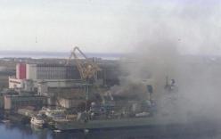 Video: Tàu ngầm Nga bốc cháy dữ dội