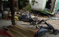 Tiền Giang: Xe buýt lật nhào khiến 5 người thương vong