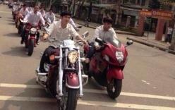 Dàn siêu xe và mô tô khủng rước dâu hoành tráng ở Hà Tĩnh