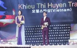 Trang Khiếu nổi bật, lấn át Ngọc Trinh nhận giải thưởng tại Hàn Quốc