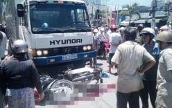 Xe tải đâm liên hoàn 4 xe máy, 1 người chết, 3 người bị thương