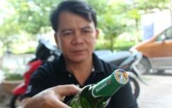 Chai bia Heineken đóng nắp Tiger ở miền Tây