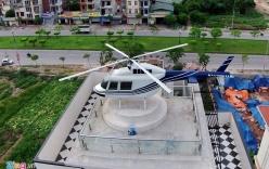 Cận cảnh trực thăng trên nóc biệt thự đại gia Hải Dương