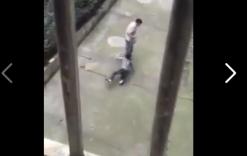 Clip: Xót xa cậu bé bị bố buộc dây vào cổ, kéo lê trên đường